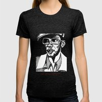Mighty Mos Def Womens Fitted Tee Tri-Black SMALL