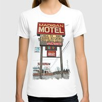 Motel Americana Womens Fitted Tee White SMALL