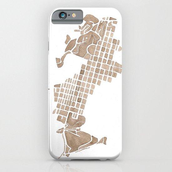 Aspen Colorado watercolormap iPhone & iPod Case