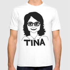 Tina Fey SMALL Mens Fitted Tee White