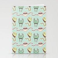 Sticker Monster Pattern … Stationery Cards