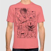 page 3 Mens Fitted Tee Pomegranate SMALL