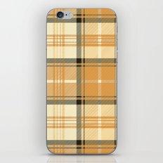 Gold Tartan iPhone & iPod Skin