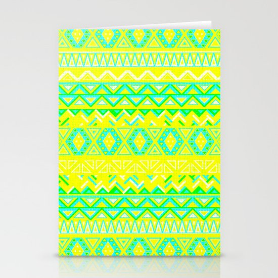 India Style Pattern (Neon) Stationery Card