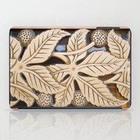 Bronze Art Deco Leaves iPad Case