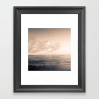 calm day ver.warmblack Framed Art Print