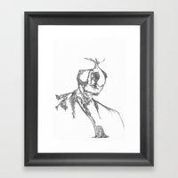Man And His Selves Framed Art Print