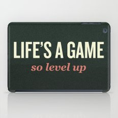 Life's a Game, so level up. iPad Case