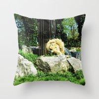THE LION SLEEPS TODAY Throw Pillow