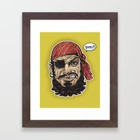 Yarg Pirate! Framed Art Print