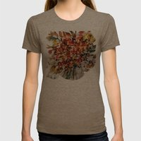 flowers Womens Fitted Tee Tri-Coffee SMALL