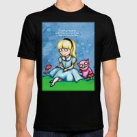 Alice Can't Go Back Mens Fitted Tee Black SMALL