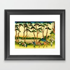 Hodogaya Station on the Tokaido Road Framed Art Print
