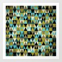 Triangles I Art Print