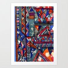 Tribal Texture Art Print