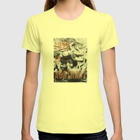 Love Is Abstract Womens Fitted Tee Lemon SMALL