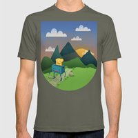 Over The Hills Mens Fitted Tee Lieutenant SMALL