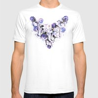 Watercolor Necklace Mens Fitted Tee White SMALL