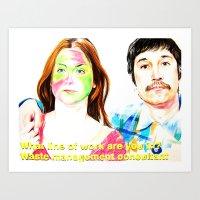You&I with subtitles Art Print
