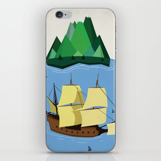 A Galleon on the High Seas iPhone & iPod Skin