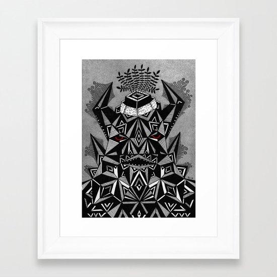 g r u z z  Framed Art Print