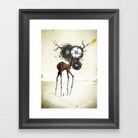 I'm on a horse Framed Art Print