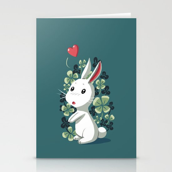 Clover Bunny Stationery Card
