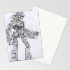 Robot Warrior Stationery Cards