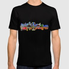 Rome Skyline Mens Fitted Tee Black SMALL