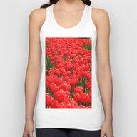 Red Tulips Unisex Tank Top