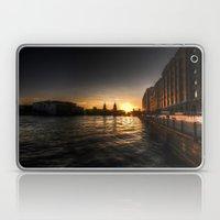 Oberbaumbrücke Sunset Laptop & iPad Skin