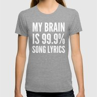 My Brain Is 99.9% Song L… Womens Fitted Tee Tri-Grey SMALL