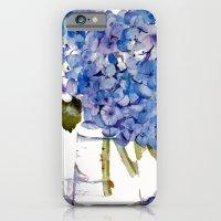 iPhone & iPod Case featuring Hydrangea painting by KarenHarveyCox