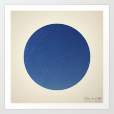 Circular Polaris & Star Trails Art Print