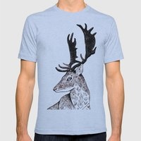The Deer Mens Fitted Tee Athletic Blue SMALL