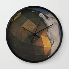 Big Cat Big Ball Wall Clock