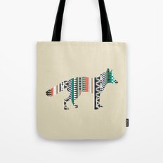 Fox With Tribal Pattern Tote Bag