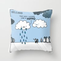 Why it Rains. Throw Pillow