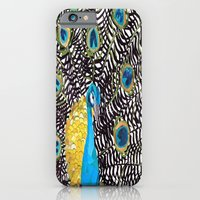 iPhone & iPod Case featuring Peacock by GiGi Garcia Collages