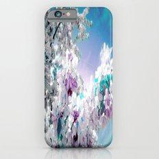 Flowers Lavender Turquoise Aqua Blue iPhone 6 Slim Case