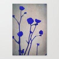 blue silhouettes Canvas Print