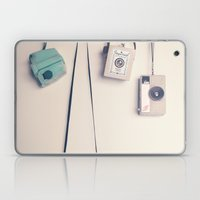 Hanging Retro Cameras  Laptop & iPad Skin