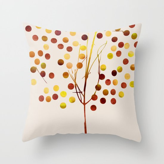 Tree of Life Amber by Jacqueline Maldonado & Garima Dhawan Throw Pillow