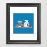 Blue Bottle Coffee Framed Art Print