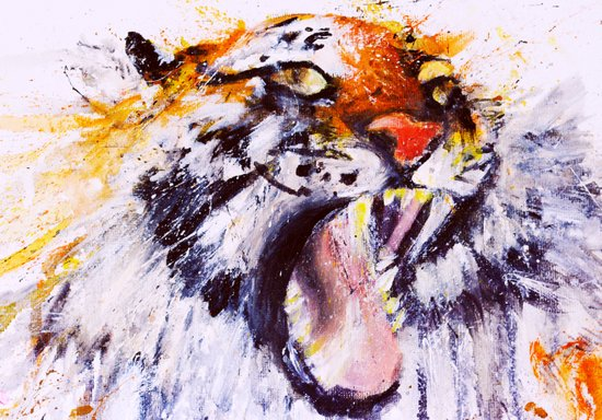 Roaring Explosion Art Print