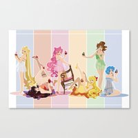 Sailor Moon Pinup - Cupcakes Canvas Print