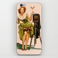 Vintage Camera Pinup girl  iPhone & iPod Skin