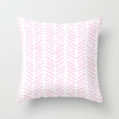 Handpainted Chevron pattern Throw Pillow