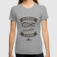 Patience Womens Fitted Tee Athletic Grey SMALL