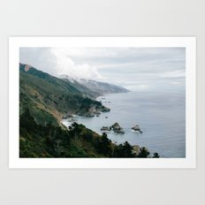 Big Sur Overlook Art Print